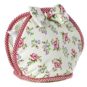 Belle - Kitchen textiles - bow tea cosy vintage rose