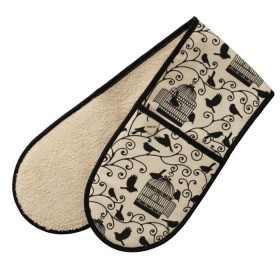 Belle - Kitchen textiles - bird cages double oven glove