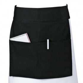 Belle - Kitchen textiles - blk front of house kitchen apron cooks basics