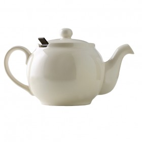 Chatsford Cream 6 cup stoneware teapot with brown filter