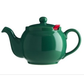 Chatsford Green 4 cup stoneware teapot with red filter