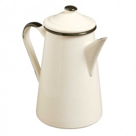 Emalia enamel coffee pot 1 litre cream / black