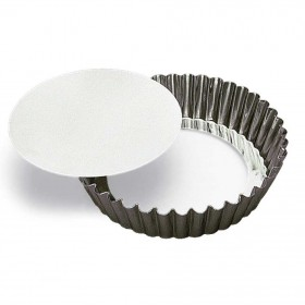 Gobel Bakeware - 100mm round fluted cake mould loose base