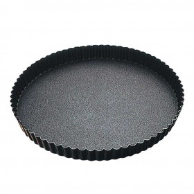 Gobel Bakeware - 240mm non-stick round fluted tart mould fixed base