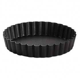 Gobel Bakeware - 100mm non-stick round fluted tart mould fixed base