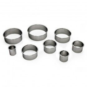 Gobel Bakeware - 100mm stainless steel round plain pastry cutter height 36mm