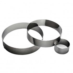 Gobel Bakeware - 60mm stainless steel round mousse ring height 40mm