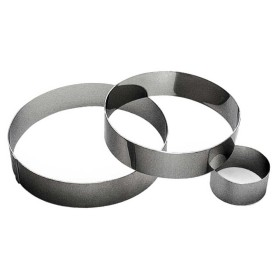 Gobel Bakeware - 70mm stainless steel round mousse ring height 40mm