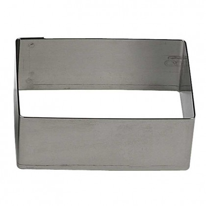 Gobel Bakeware - 100 x 30mm stainless steel rectangluar nonnette ring height 30mm from dowricks.com