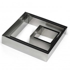 Gobel Bakeware - 60mm stainless steel square nonnette ring height 30mm