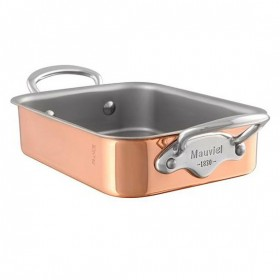 14 x 10 cm roaster stainless steel handle copper m'minis