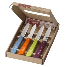 Opinel -  Set of 4 Paring Knives Pop colours - Number 112.