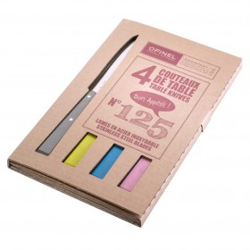 Opinel -  Bon Appetit Table Knives set of 4 Number 125 - Country Colours.
