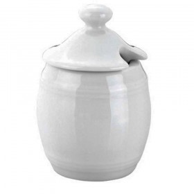 Pillivuyt - barrel mustard pot and lid 9 cl / 6 cm