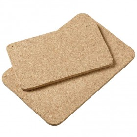 Viking Cork Woodware - 2 piece rectangular hot pad set (240,295 mm) cork