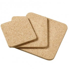 Viking Cork Woodware - 3 piece square hot pad set (140,180,220 mm) cork