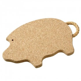 Viking Cork Woodware - trivet with rope pig 280 mm cork