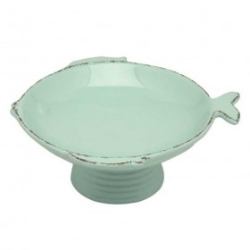 Virginia Casa - 17 cm footed bowl aqua marina height 7.3 cm