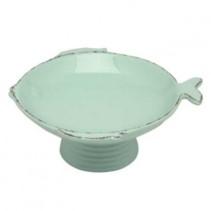 Virginia Casa - 17 cm footed bowl aqua marina height 7.3 cm from dowricks.com