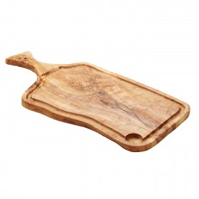 Woodware - rustic board with handle large ( approx 50 cm )