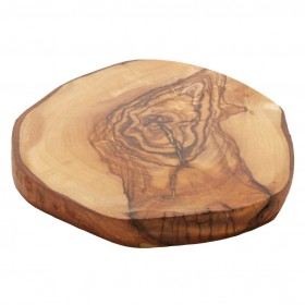 Woodware - flat cheese plate small olivewood