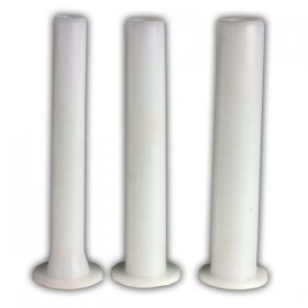 A set of 3 nozzels for our horizontal sausage stuffer