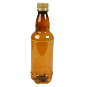 Amber screw top beer bottles - plastic - 500ml - 20 bottles