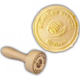 Beech Wood Butter Stamp