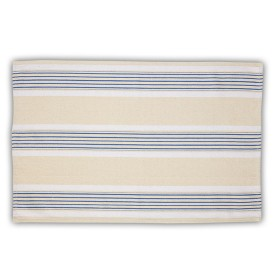 Belle - Quality 'English made' kitchen textiles - tea towel blue / cream stripe crisp and dene