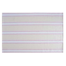 Belle - Quality 'English made' kitchen textiles - tea towel pink / cream stripe crisp and dene