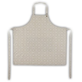 Belle - Quality 'English made' kitchen textiles - standard apron taupe tile crisp and dene