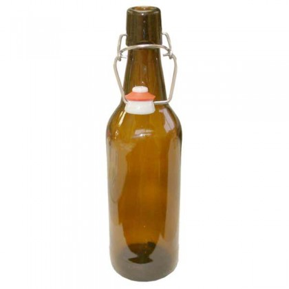 Brown swing top bottles - 500ml - each from dowricks.com