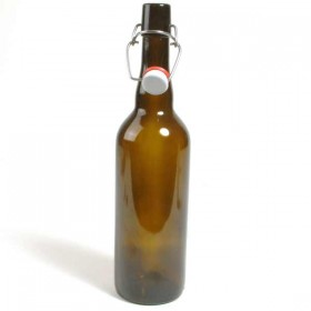 Brown swing top bottles - 750ml - case of 12