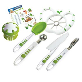 Crisp tools for healthy eating - 6 piece fruit & veg prep kit curious chef