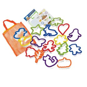 Crisp tools for healthy eating - 16 piece cookie cutter set curious chef