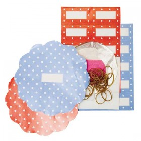 Dot Red / Blue preserve set (approx 20 pieces) - Tala