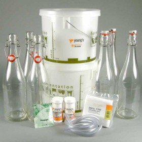 Sparkling Elderflower Wine Starter Kit - 6 Bottle