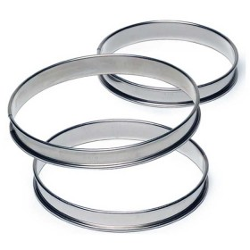 Gobel Bakeware - 100mm stainless steel round tarte ring h27mm
