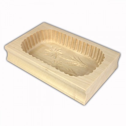 Oval butter mould 250 grams from dowricks.com