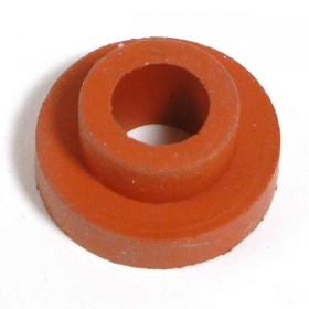 Red rubber grommet to fit most plastic lids.