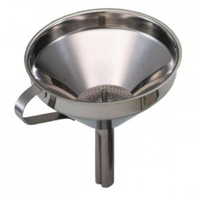 Stainless steel funnel with filter - 13cm