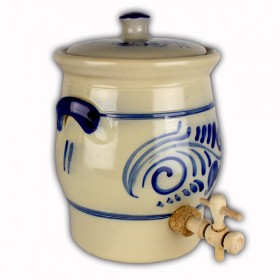 Vinegar pot blue grey salt glazed 2 litres