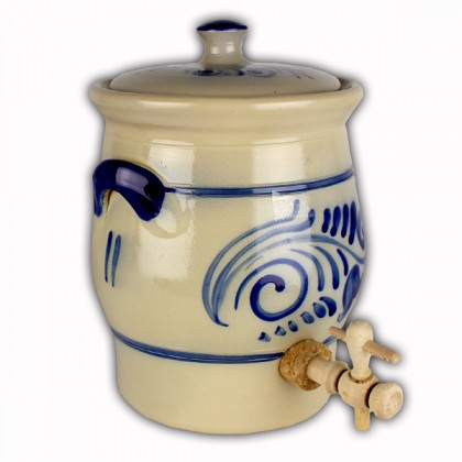 Vinegar pot blue grey salt glazed 2 litres from dowricks.com