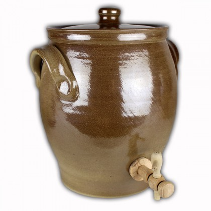 Vinegar pot light brown salt glazed 3 litres from dowricks.com