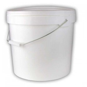 White bucket 12 litre with lid and handle